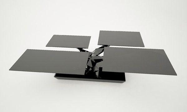 Coffee Table Design Unique Bonsai Coffee Table Design BONSAI coffee table black modern design 600x360