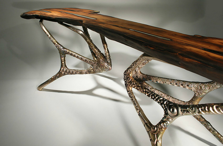 Nature Formations  A Set Of Coffee and Side Tables Inspired By Nature Formations bronze coffee table md