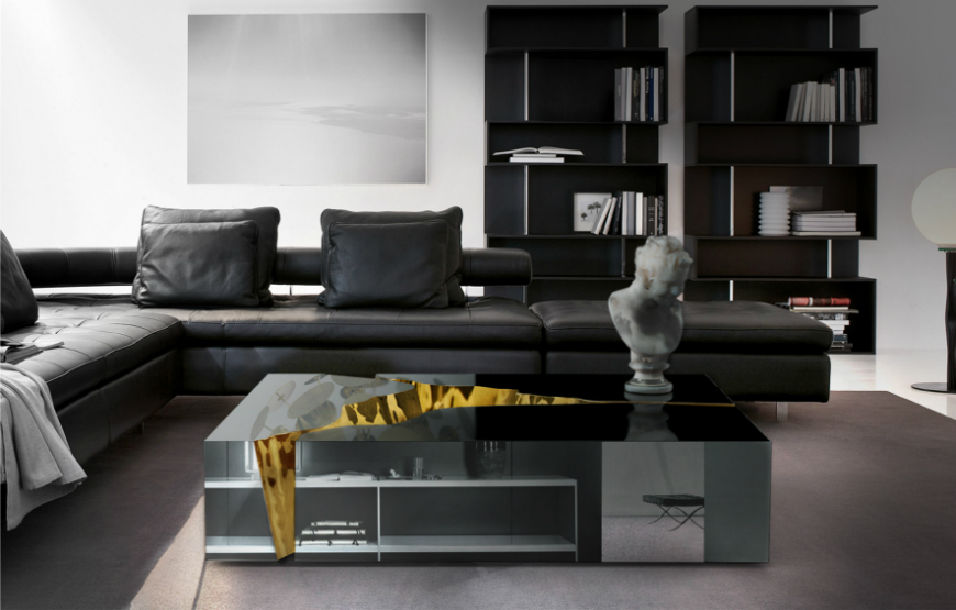 Black and White Living Room Ideas  15 Black and White Living Room Ideas Using the Best Coffee Table Designs lapiaz center table 2