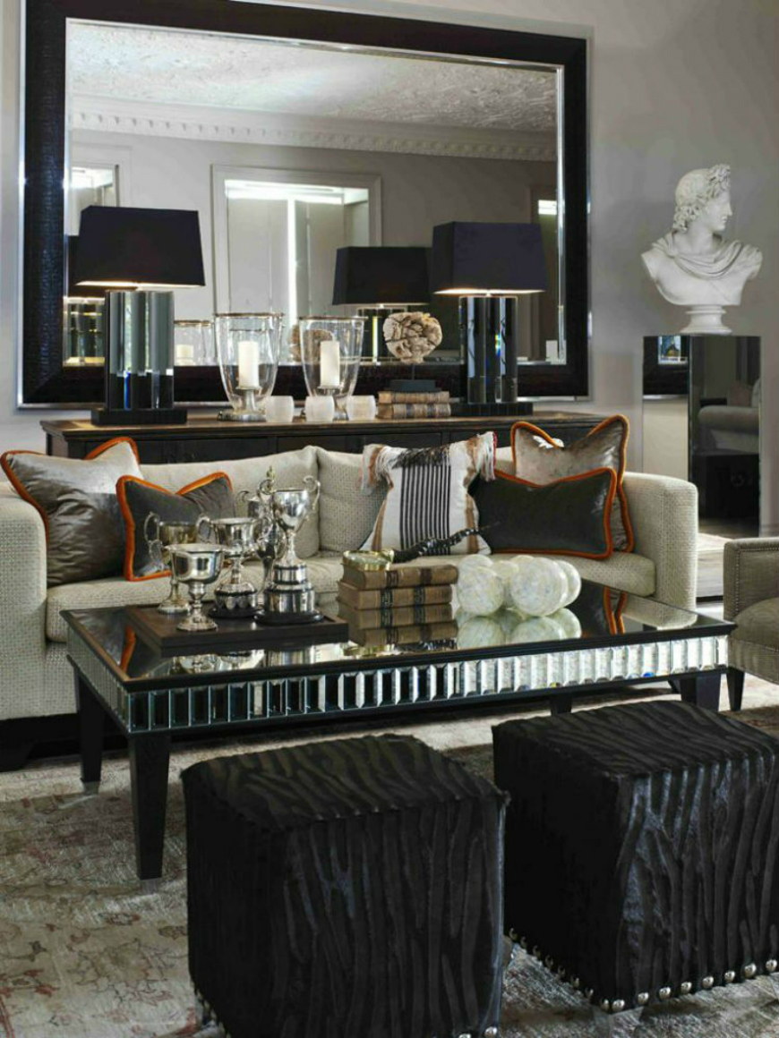 Black and White Living Room Ideas  15 Black and White Living Room Ideas Using the Best Coffee Table Designs luxury hospitality furniture 2