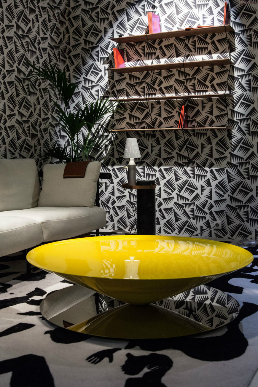 10 Colorful Coffee and Side Tables for Luxury Living Rooms Float yellow Luca Nichetto coffee table 2