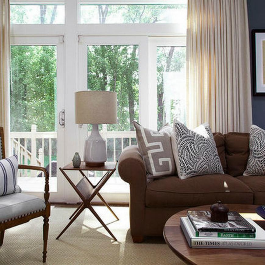 living-room-with-brown-sofas2-tqh02  Living Room Design Ideas in Brown and Beige Living Room With Brown Sofas2 TQH02