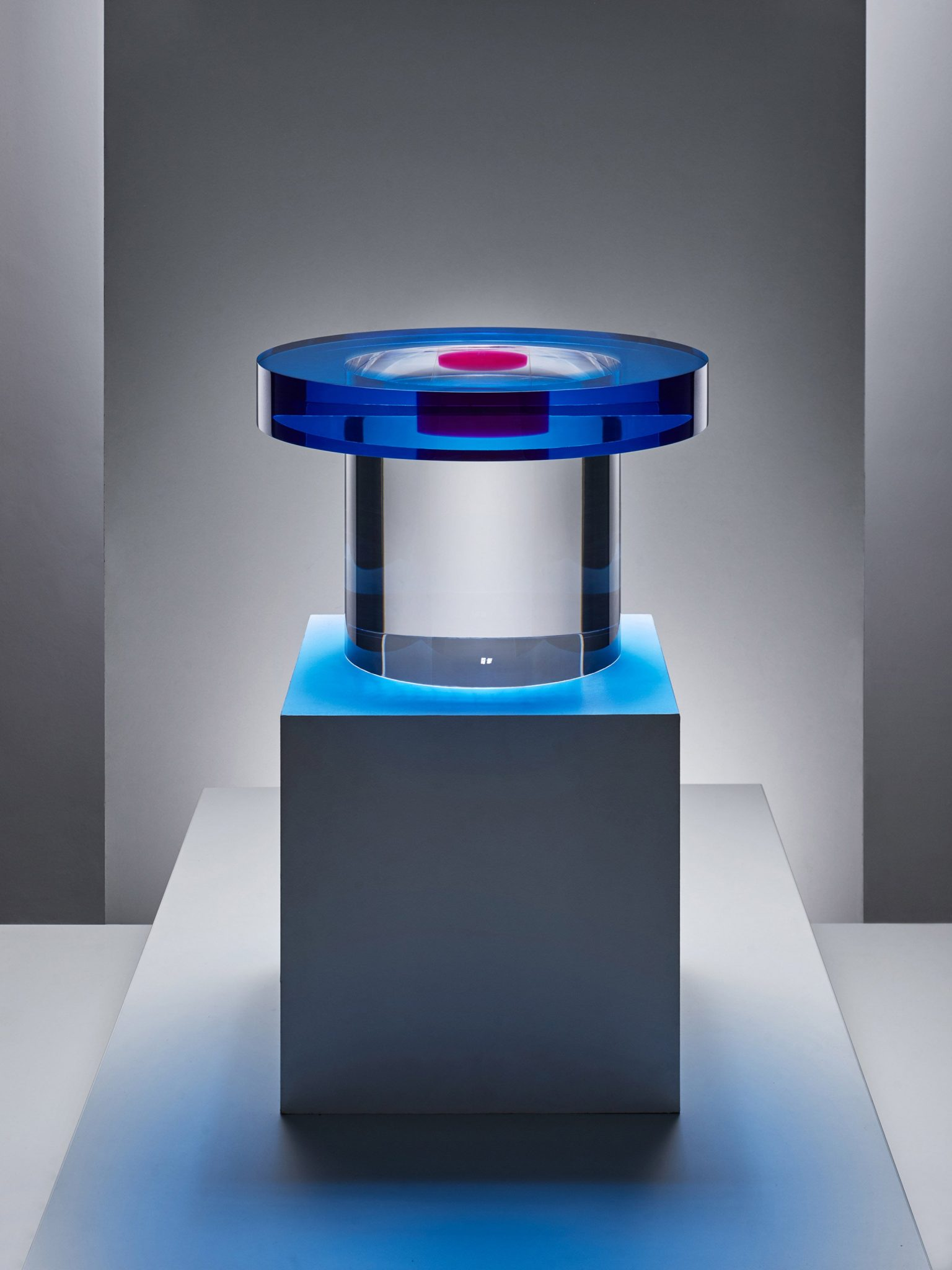 """Candy-coloured resin tables that """"challenge visual perception"""" block andy martin design furniture dezeen 2364 col 3"""