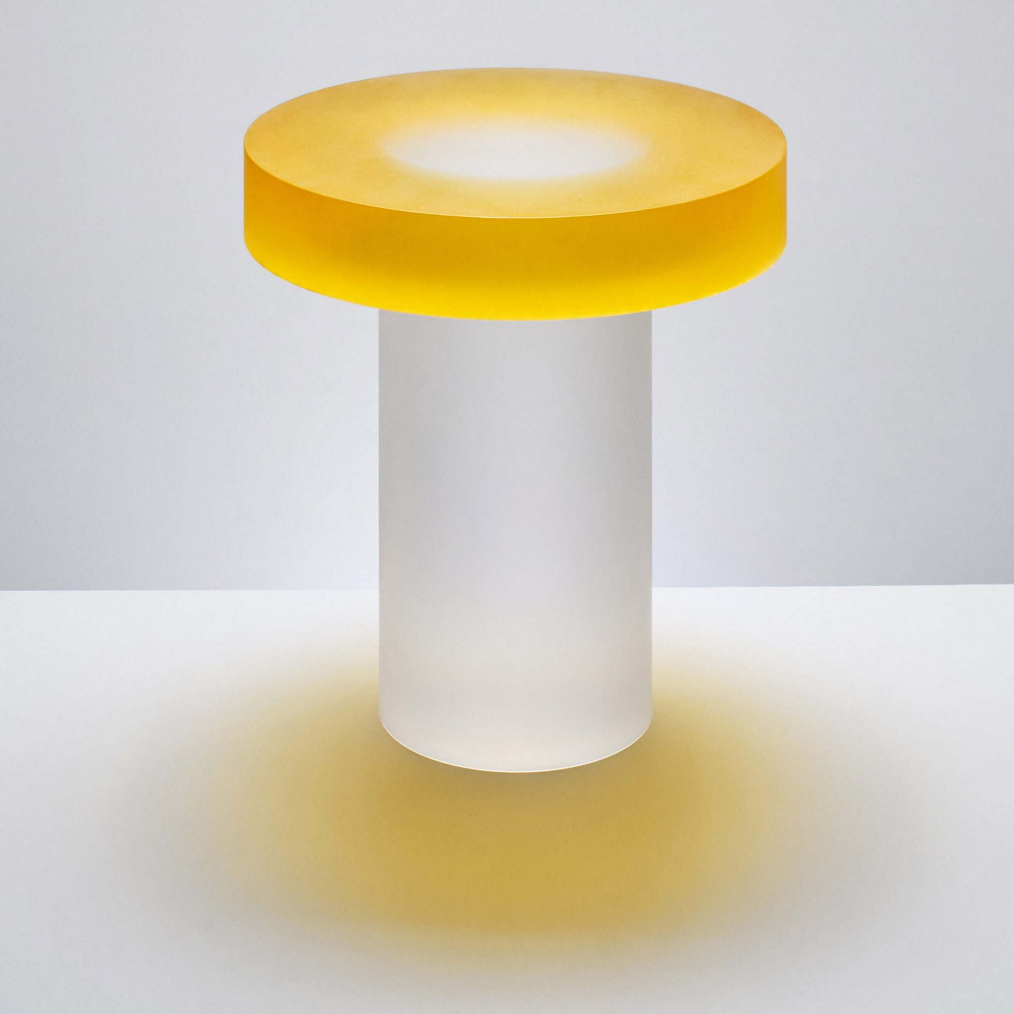 """Candy-coloured resin tables that """"challenge visual perception"""" block andy martin design furniture dezeen 2364 col 5"""