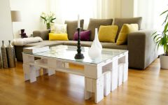 Home Decorating Ideas With Vintage Coffee and Side Tables europalet blanco mesa 240x150
