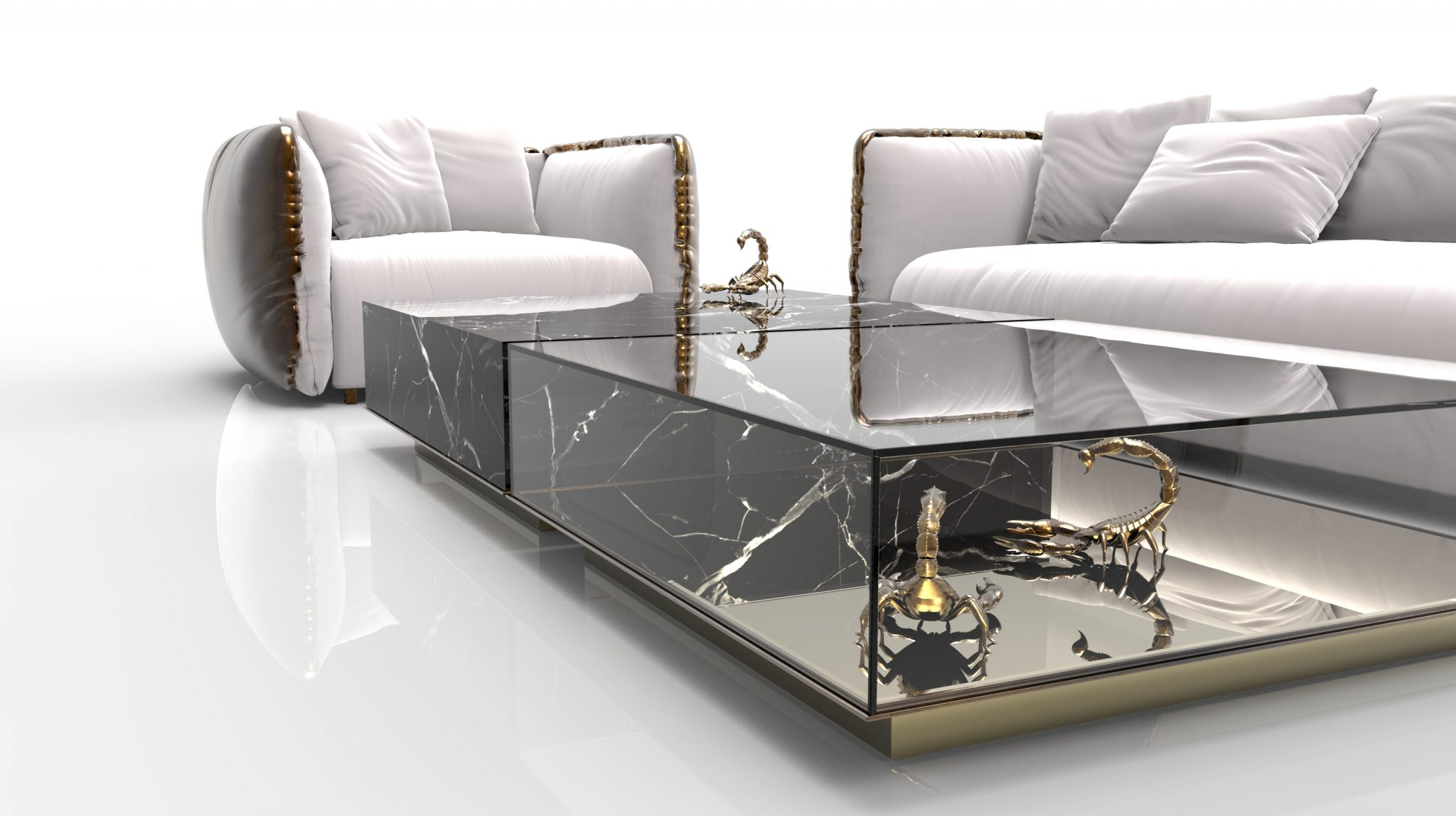 Marble Coffee and Side Table Designs On Home Interiors Metamorphosis Center Table 3
