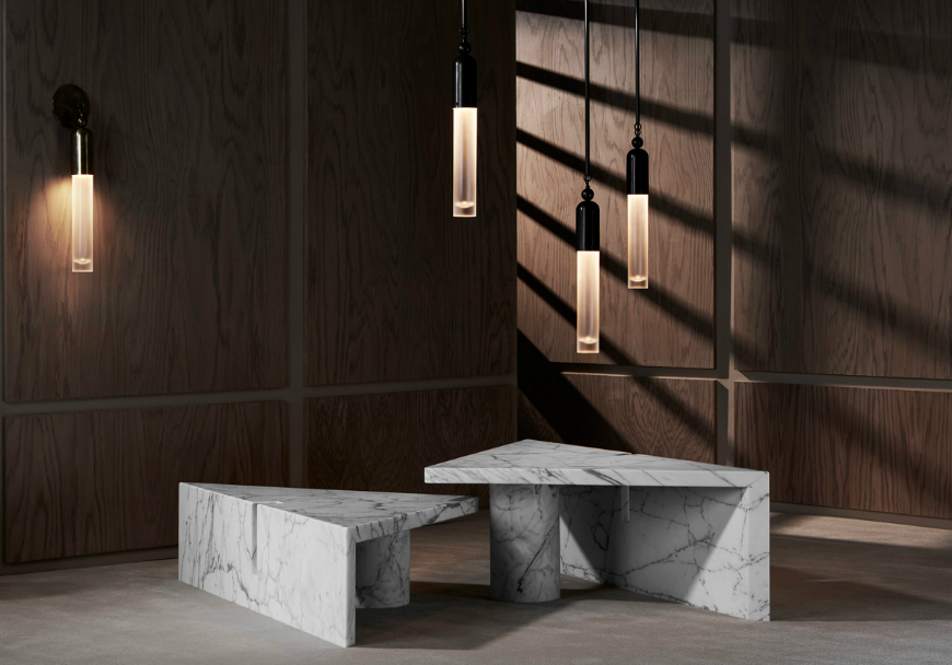 Marble Coffee and Side Table Designs On Home Interiors Tassel and Portal Marble Coffee Table by APPARATUS Yellowtrace 07