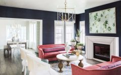Inspirational Modern Living Room Designs navy walls 1 240x150