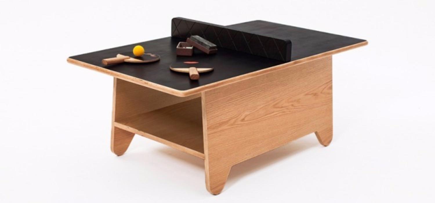 Get Inspired by Sports Themed Room Coffee Tables ping pong coffee table 1