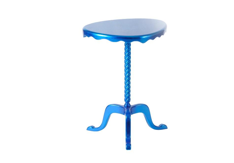 La Dolce Vita in Blue by Jorge Cañete | Top 100 Interior Designers 2017 ottoman side table zoom