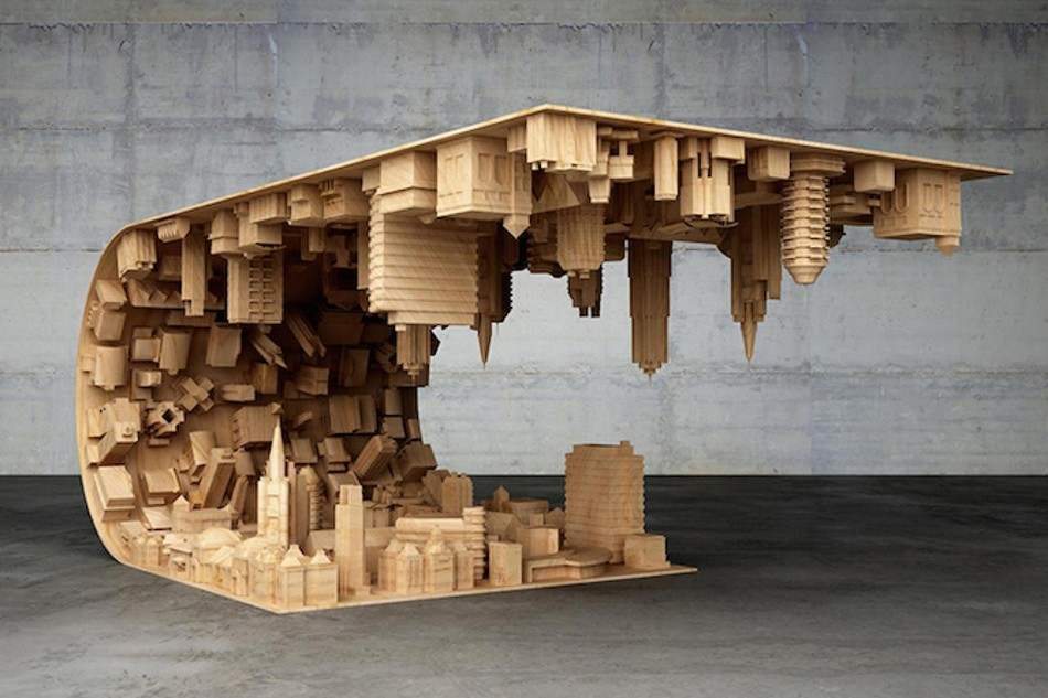 A Coffee Table Inspired In A Scene From The Movie Inception 427956 eredet kavezo asztal