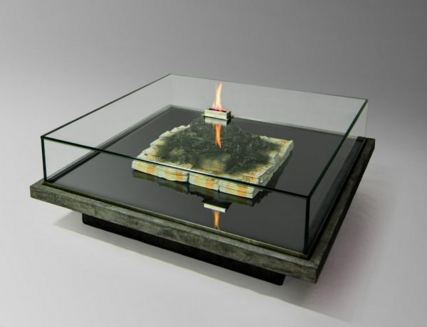 Contemporary Coffee Table A Contemporary Coffee Table That Burns Money Amarist Studio Art 4 600x460
