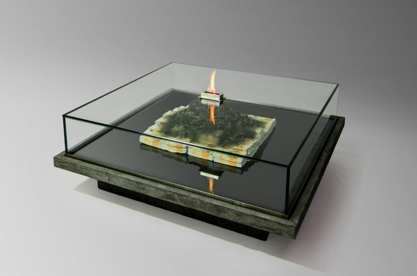 A Contemporary Coffee Table That Burns Money
