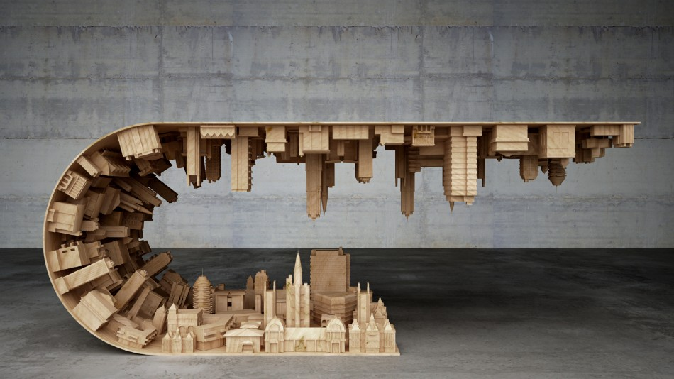 A Coffee Table Inspired In A Scene From The Movie Inception Wave City Coffee Table Stelios Mousarris Inception