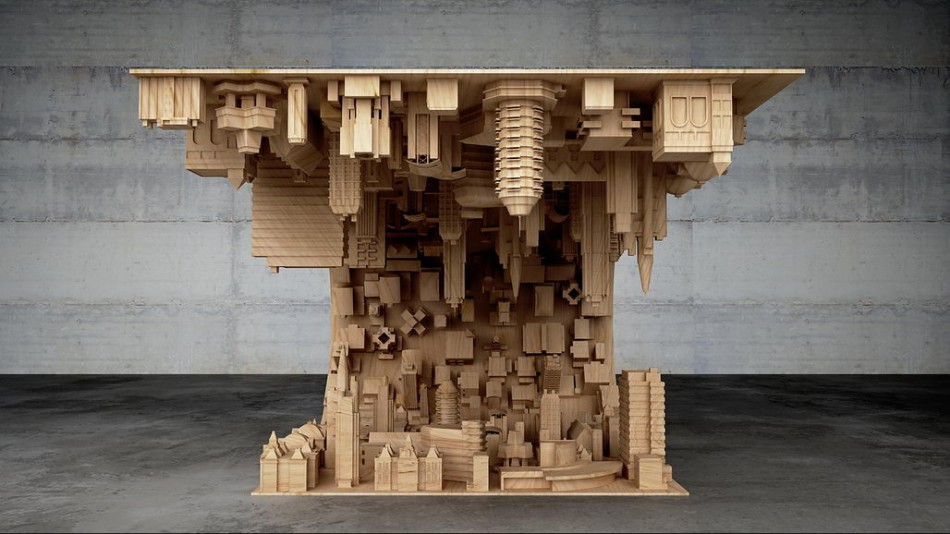 inception  A Coffee Table Inspired In A Scene From The Movie Inception inception coffee table 2