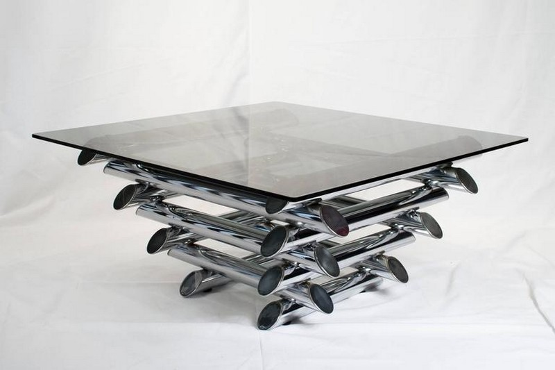 Black Modern Coffee Table Painted Antique
