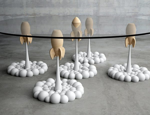 rocket coffee The nostalgia-inducing Rocket Coffee Table by Sterios Moussaris 000 2 600x460