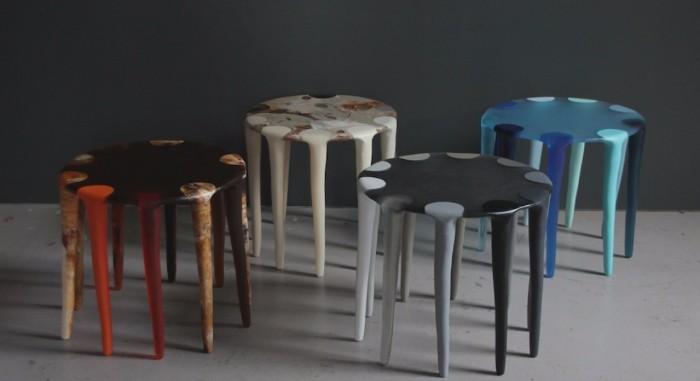 bedroom inspirations 10 Astonishing Side Tables For Bedroom Inspirations Multicolor Side Tables by Dinosaur Designs