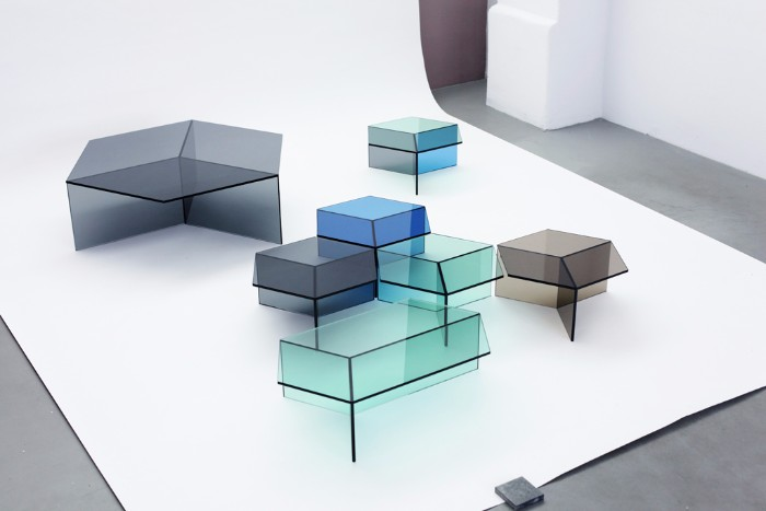The Stuning Glass Coffee Tables by Sebastian Scherer