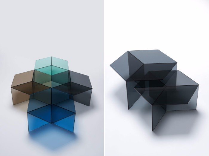 glass coffee table The Stuning Glass Coffee Tables by Sebastian Scherer isom8