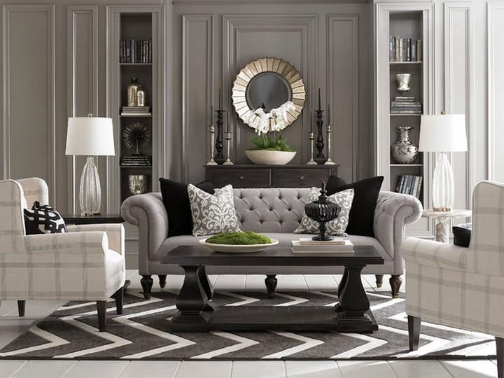 living room design Improve Your Living Room Design With Dark Tone Furniture contemporary living room 1 1