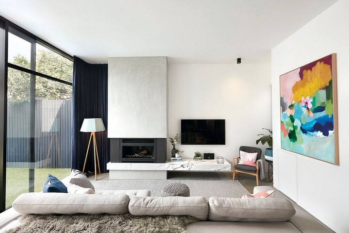 monochromatic colors coffee and side tables room color scheme living spaces house paint colors white furniture, marble coffee table exclusive design monochromatic colors Most Stylish Living Spaces with Monochromatic Colors Most Stylish Living Spaces with Monochromatic Colors14