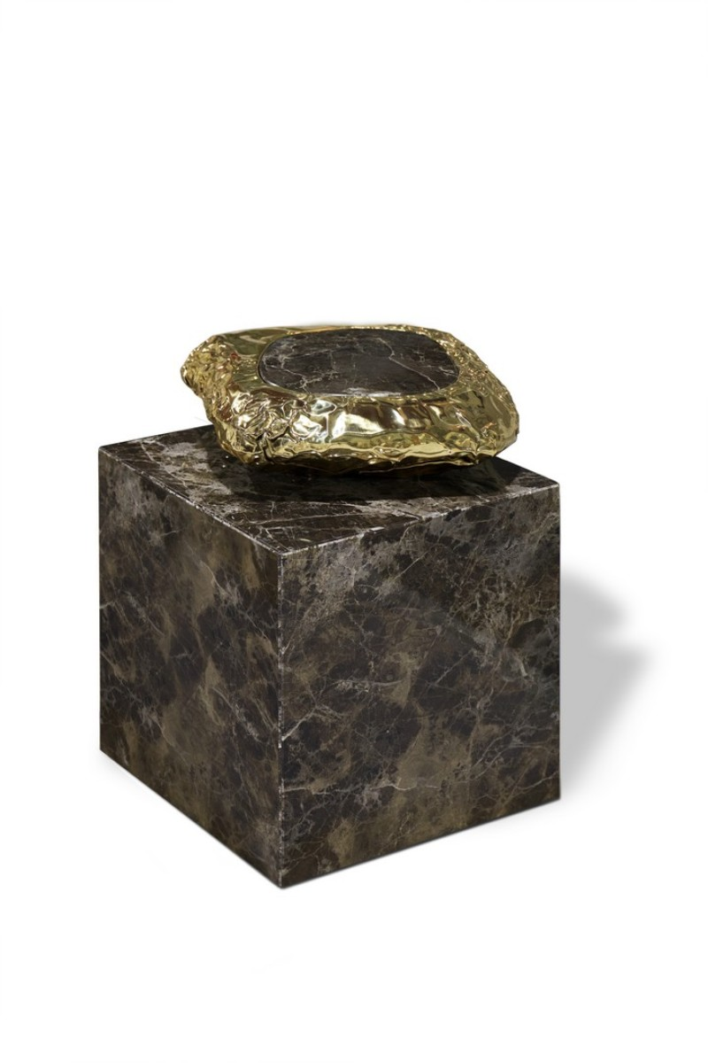 Marble bedside tables marble bedside tables 10 Outstanding Marble Bedside Tables That Steal the Spotlight Stonehenge Side Tabl by Boca do Lobo 1