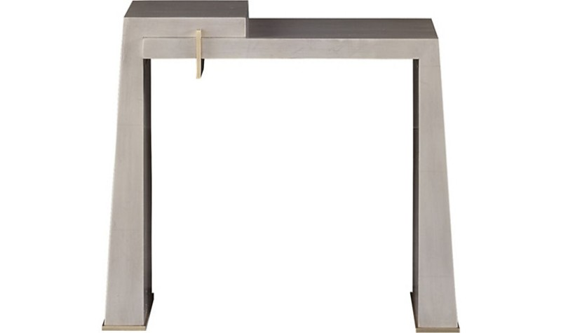 Contemporary Side Tables by Baker Furniture contemporary side tables Contemporary Side Tables by Baker Furniture 8782 SILVERLEAF FRONT