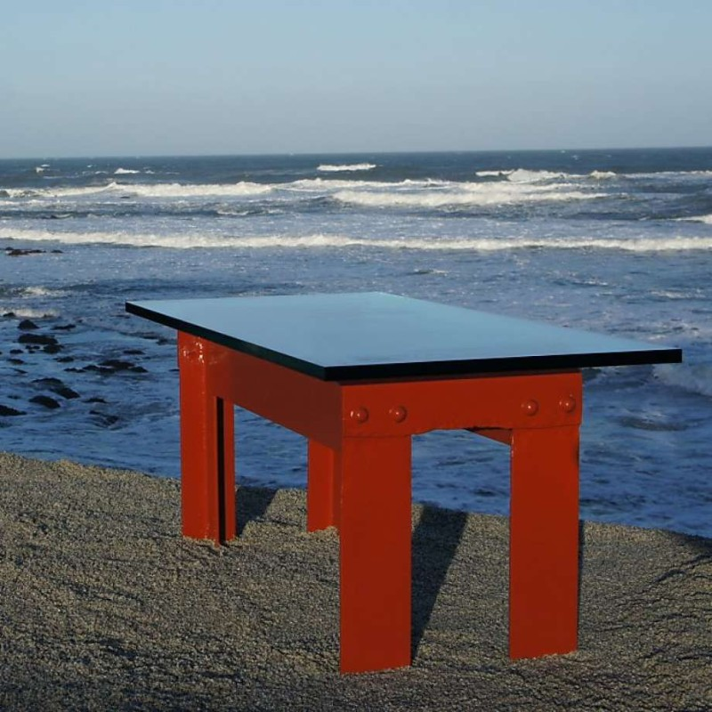 Large Coffee Tables Constructed from Pieces of the Golden Gate Bridge large coffee tables Large Coffee Tables Constructed from Pieces of the Golden Gate Bridge Large Coffee Tables Constructed from Pieces of the Golden Gate Bridge 17