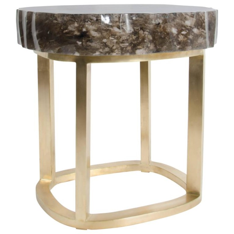 side table The Best Limited Edition Side Tables glacier brass by robert kuo