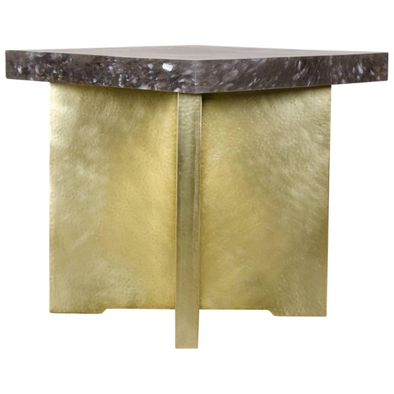 quad-brass-table-by-robert-kuo side table The Best Limited Edition Side Tables quad brass table by robert kuo