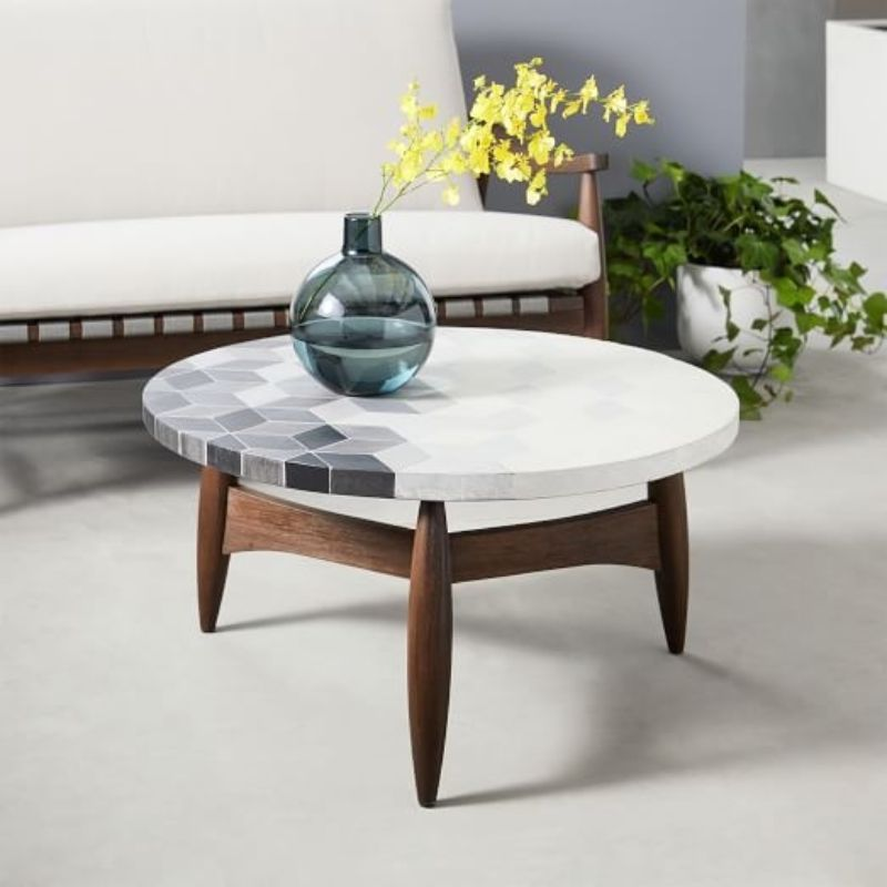 side tables Best Materials for Your Coffee and Side Tables ceramic tiles