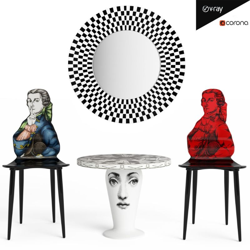 Fornasetti's Whimsical Coffee and Side Tables fornasetti Fornasetti's Whimsical Coffee and Side Tables Whimsical Coffee and Side Tables 4