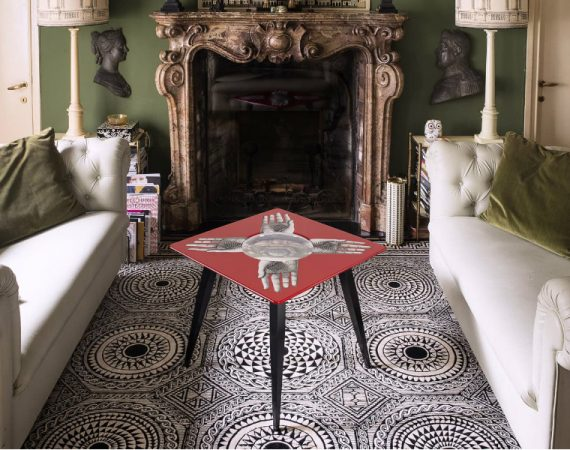 fornasetti Fornasetti's Whimsical Coffee and Side Tables Whimsical Coffee and Side Tables feature 570x450