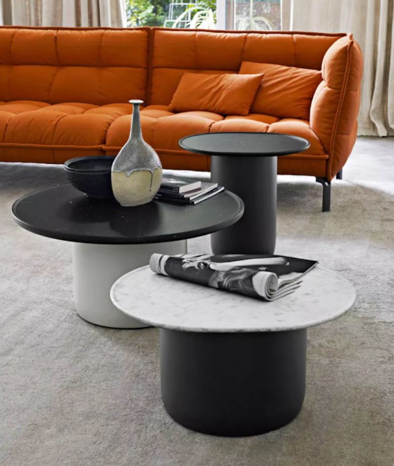 round coffee tables Get Impressed by 10 Round Coffee Tables for a Modern Living Room bb italia