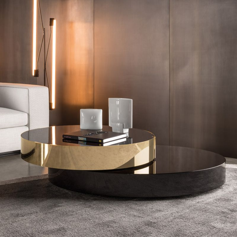 round coffee tables Get Impressed by 10 Round Coffee Tables for a Modern Living Room eliott coffee table by minotti